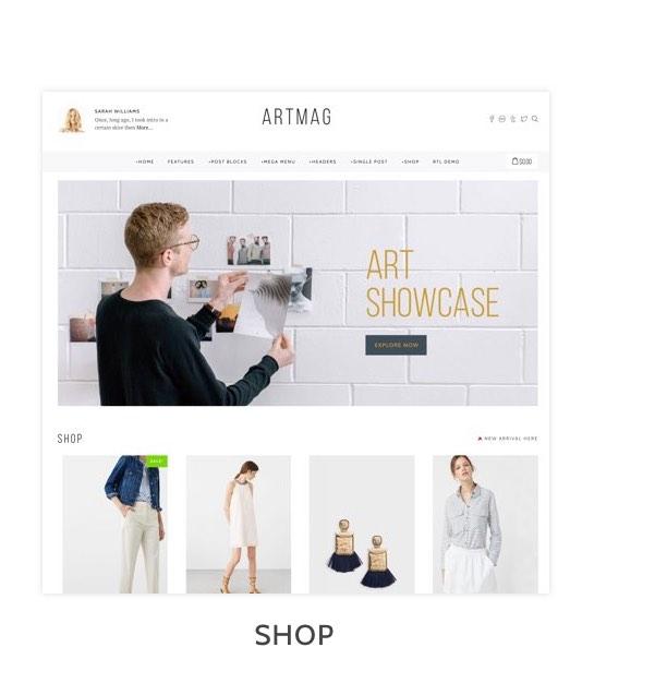 Artmag Magazine & Shop WordPress Theme - 9