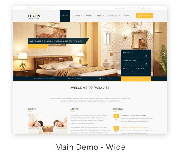 Luxen - Premium Hotel & Booking WordPress Theme - 2