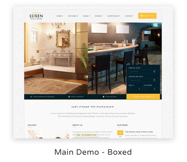 Luxen - Premium Hotel & Booking WordPress Theme - 3