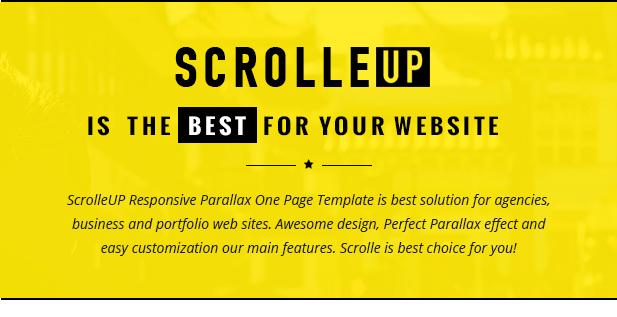 ScrolleUP - Creative One Page WordPress Theme